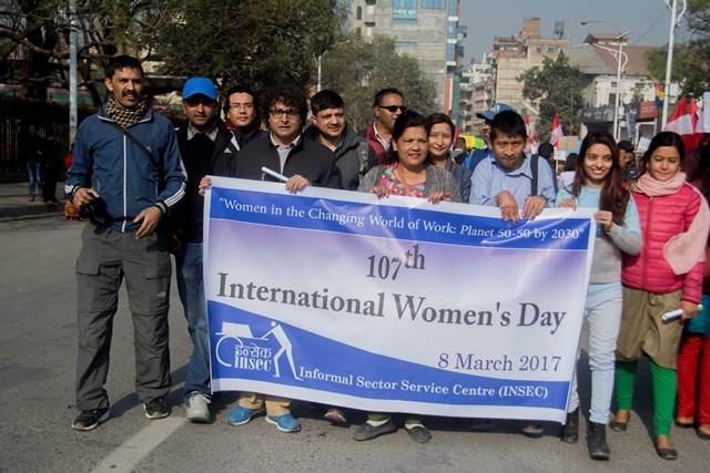 Rally on the occasion of International Women's Day (8 March 2017) organized by Ministry of Women, Children and Social Welfare in Kathmandu, Nepal
